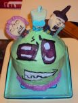 Invader Zim Cake by ToughSpirit