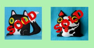 Cat and Boston Plushies sale by JustinCoffee