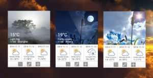Lenovo A1000 Weather Widget for xwidget by jimking