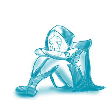 Depressed Drow by Sir-Croco