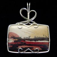 Indian Paint Rock Pendant by innerdiameter
