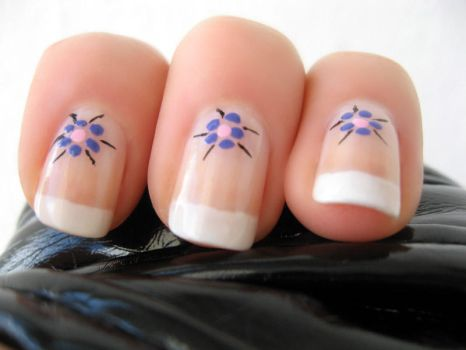 French Flower Manicure part 3 by xzibitka