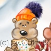 Sneaky-Peeky Winterpic by Cathy86