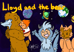 Lloyd and the Bear/What the Fuzz Exclusive Print by elenawing