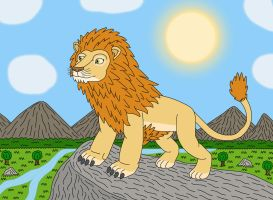 Aslan the Great Lion of Narnia by MCsaurus