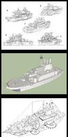 Warship -process- by 47ness