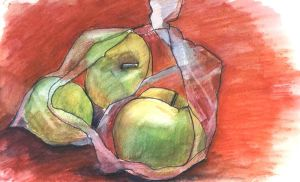 Apples in a package by Luybashka