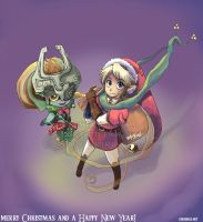 Zelda- Merry Christmas 2007 by BettyKwong