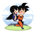 Goku and ChiChi chibi by Beastwithaddittude