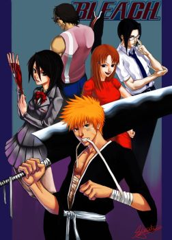 +BLEACH+ The Gang by Orenji-kun