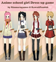 Anime School Girl Dress up by Rinmaru
