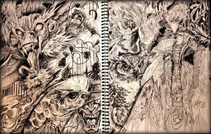 Snippet of Sketchbook by TamiTw