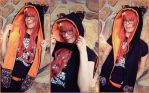 Halloween Scoodie with Fox Ears by Monostache