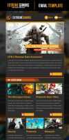 Extreme Gaming PSD Email Template by odindesign