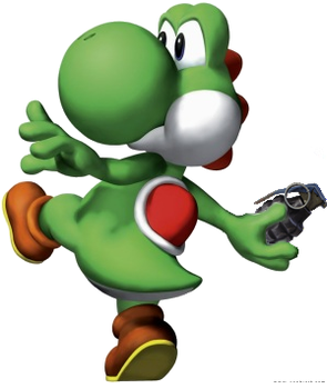 Yoshi with a GRENADE by Luketh45