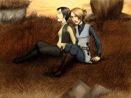Exile and Revan in Dantooine by Scila