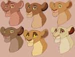 6 versions of Sarabi's mother by Olphey