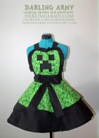 Creeper -Minecraft- Cosplay Pinafore by DarlingArmy