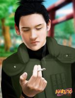 : shikamaru smoking : by lymdul
