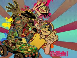 Gorillaz Wallpaper by rinoatimber