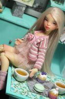 Colline in peach normal skin with faceup by Cerisedolls