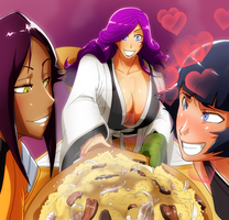 Kirio, Yoruichi and Soifon by Gairon
