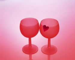 lovely red wine glasses by kittenstyle