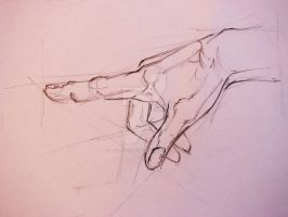 Study of a hand 2 by MayaApostoloska
