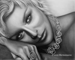 Sharon Stone by Mariannaeva