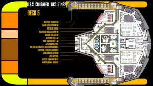 U.S.S. Crusader Deck 5 Plans by TrekkieGal