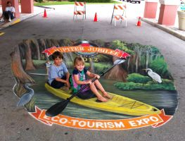 Faux Kayaking at Jupiter Jubilee by AmazingStreetPaint