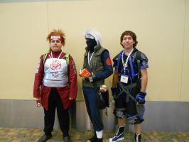 Otakon 2012 - Chouji, Kakashi, and Sora by Angel1224