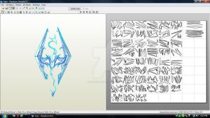 Skyrim Logo Download by ZombieGrimm