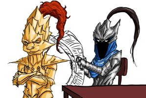 Ornstein and Artorias discover Smough's diet by MenasLG