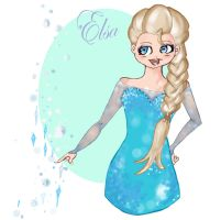 frozen : Elsa by blackflameknight