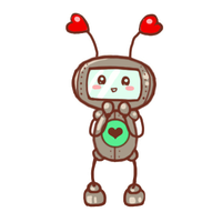 CupiBot is excited to see you! by SmilingOfTheHealer