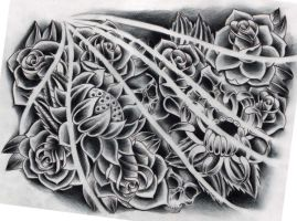 Flowers black and grey by WillemXSM