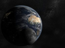 Earth and Moon revised by azarael