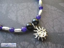 Supernatural Tattoo Bracelet with Amethyst by SpellsNSpooks