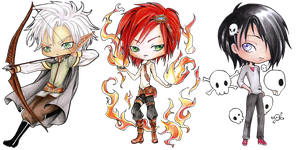- COMMISSION - Chibi Set 9 - by ooneithoo