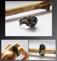 Ida- wire wrapped ring by mea00