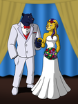 Palladon and Cassie's Wedding Pic 2 by BennytheBeast