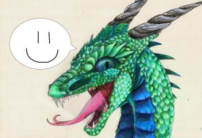 happy dragon is happy by BobbyDazzl3r