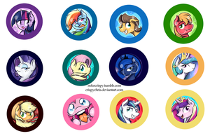 Pony Buttons Series 1 by CrispyChris