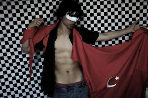 Turkish flag and blood by kura-and-something