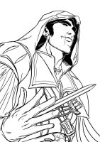 Ezio Auditore Inks by jaxinto