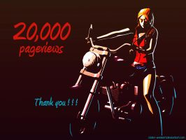20,000 Pageviews by Claire-Wesker1