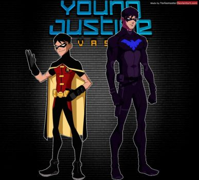 Young Justice: Robin and Nightwing by YorkeMaster