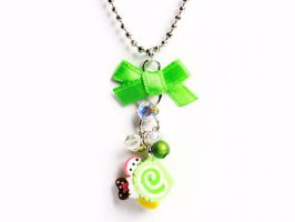 Neon Swiss Roll Necklace by SweetandCo