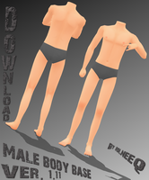 Male body base - download - UPDATE 1.11 - by Rolneeq
